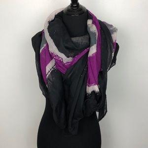Lane Bryant Sheer Long Blanket Scarf EUC